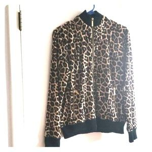 Animal print Michael Kors jacket with gold zippers
